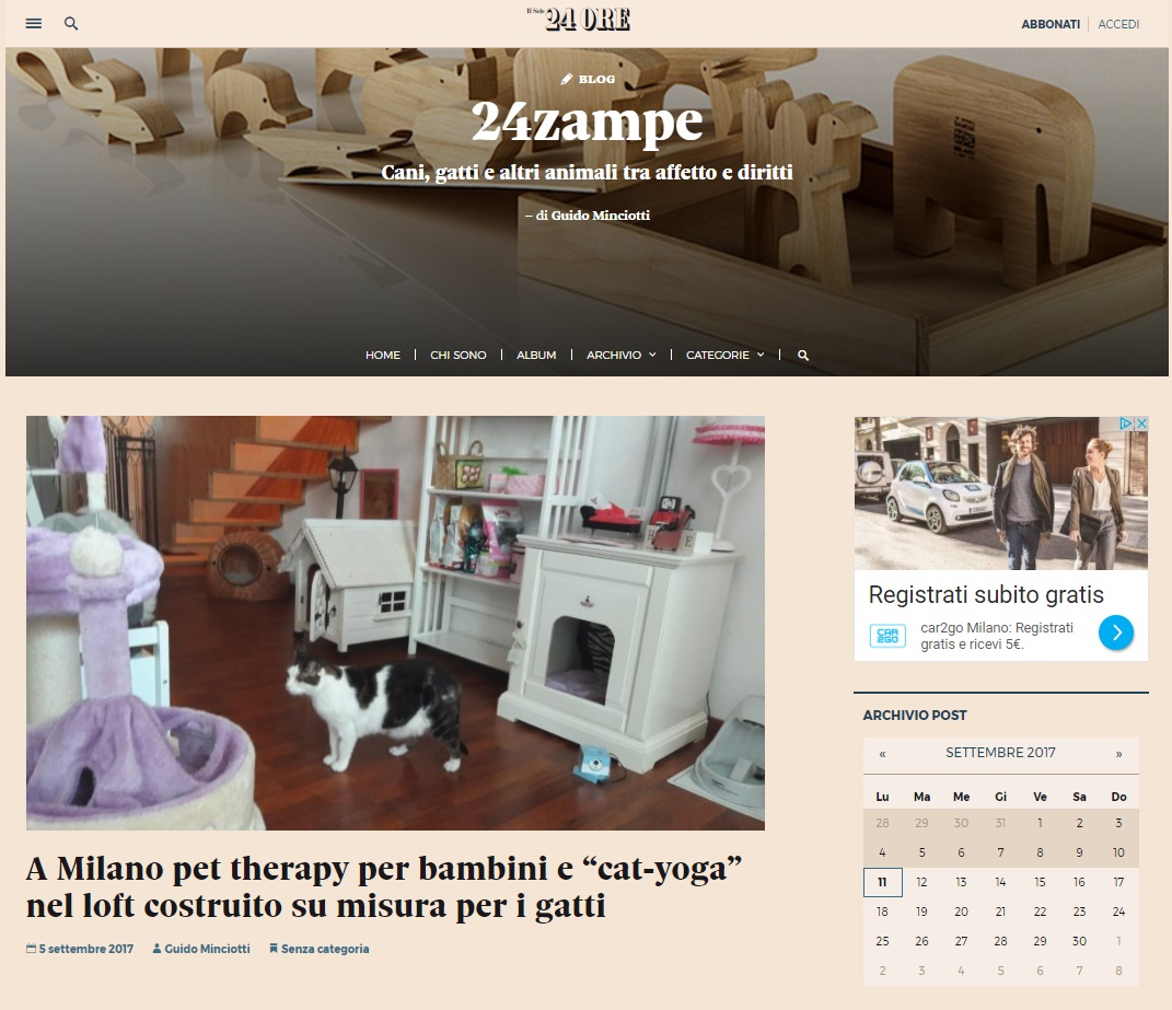 il Sole24ore parla di cat suite home